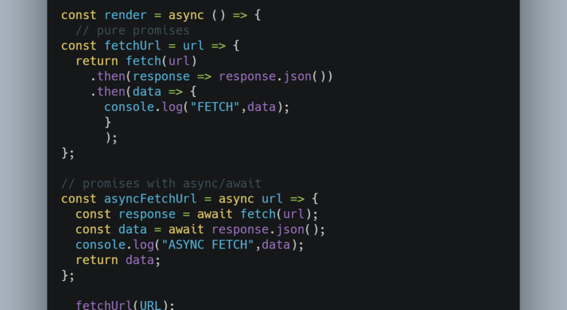 Async and await functions in NodeJs